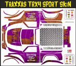 Purple Rusted Speed Shop Themed Vinyl SKIN Kit & Stickers Fits R/C Traxxas TRX4 Sport Rock Crawler